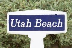 Utah beach sign Royalty Free Stock Photography