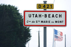 Utah Beach Royalty Free Stock Photography