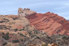 Utah- Beautifully Sculpted Cliffs In Arches National Park stock photo