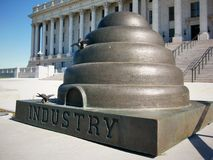 Utah beehive statue. A picture of beehive statue Royalty Free Stock Photos