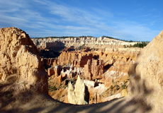 Utah: Bryce Canyon. Your first view of the park is a dramatic unveiling. Wind through stands of pine trees until they break at the rim of Bryce Canyon National Royalty Free Stock Photography