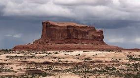 Utah butte chmurny timelapse zbiory