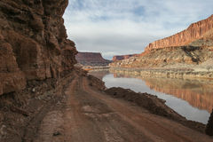 Utah-Canyonlands National Park-Island in the Sky area-White Rim Road. Stock Photography