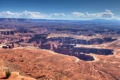 Utah-Canyonlands nationell Parkera-ö i himmelområdet Royaltyfri Bild