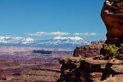 Utah-Canyonlands nationell Parkera-ö i himmelområdet Fotografering för Bildbyråer