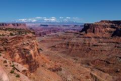 Utah-Canyonlands nationell Parkera-ö i himmelområdet Royaltyfria Bilder