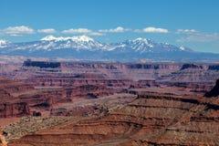 Utah-Canyonlands nationell Parkera-ö i himmelområdet Royaltyfri Fotografi