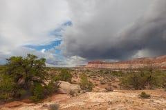 Utah-Canyonlands nationellt Parkera-labyrint område Royaltyfri Bild