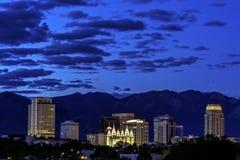 Utah capital city at night Stock Images