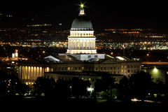 Utah Capitol Building @ Night Royalty Free Stock Photography