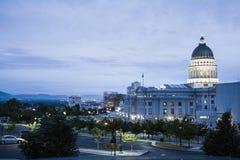 Utah Capitol w słonego jeziora mieście Utah Zdjęcia Royalty Free