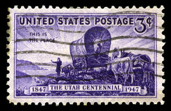 Utah Centennial US Postage Stamp Stock Photos