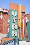 Utah cinema marquee Royalty Free Stock Images