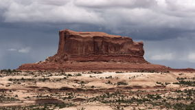 Utah cloudy butte timelapse. Video of utah cloudy butte timelapse stock footage