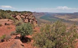 Utah Comb Ridge Sweeping Vista. Comb Ridge is an 80 mile long monocline cutting through the center of the Colorado Plateau from Kayenta, Arizona to Blanding Stock Image