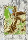 Utah, in de schaduw gestelde hulpkaart Royalty-vrije Stock Foto
