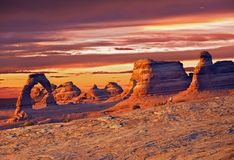 Utah Delicate Arch Royalty Free Stock Photography