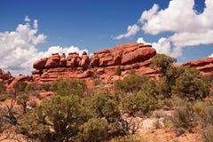 Utah Desert. Red Desert, Arches National Park, Utah, USA Royalty Free Stock Photography