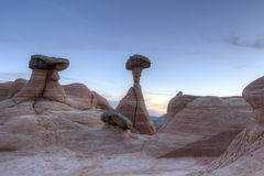 Utah Desert Hoodoos at Dusk Stock Photo