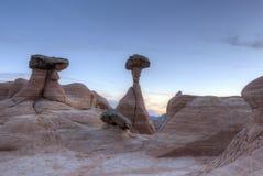 Utah Desert Hoodoos at Dusk Stock Photo