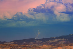 Utah desert lightning Stock Photo