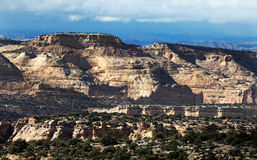 Utah Desert Plateaus. A beautiful landscape of plateaus in the Utah desert Royalty Free Stock Photography