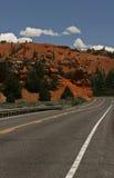Utah desert road. The road betwen zion and bryce Royalty Free Stock Image