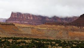 Utah Desert Scenic Storm. An autumn storm brings rain clouds above the plateaus in the Utah desert Royalty Free Stock Image