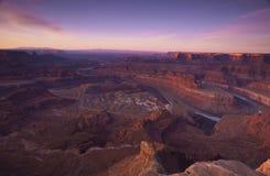 utah för canyonlandsnationalparksoluppgång sikt Royaltyfria Foton