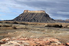 Utah: Factory Butte. This is an image of Factory Butte near Capitol Reef National Park in the south western desert of Utah stock images