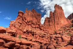 Utah-Fisher Towers-north of Moab Royalty Free Stock Photo