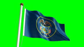 Utah flag. (seamless & green screen stock footage