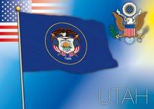 Utah flag Stock Photography