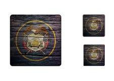 Utah flaggaknappar Royaltyfria Bilder