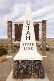 Utah granicy stanu zabytek Obrazy Royalty Free