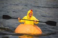 Utah Great Pumpkin Regatta Royalty Free Stock Photos