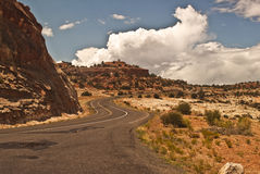 Utah Highway Royalty Free Stock Photo