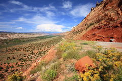 Utah Highway 95 along Comb Ridge Stock Photography