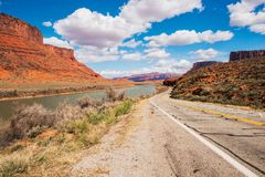 Utah Highway 128 Royalty Free Stock Photo