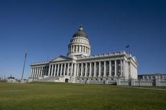 Utah huvudbyggnad, Salt Lake City fotografering för bildbyråer