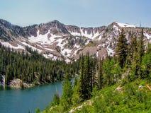 Utah jar Wycieczkuje ślad w kierunku Wasatch gór fotografia stock