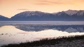 Utah Lake Dolly Shot Tight. Beautiful shot of Utah Lake in the winter time stock video footage