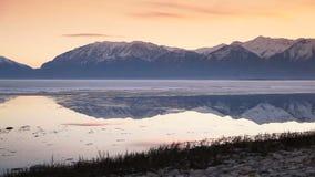 Utah Lake Dolly Shot Tight stock video footage