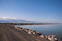 Utah Lake walkway Stock Photography