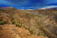 Utah landscape. A view a plateau in Utah from La Verkin Overlook road Stock Photography