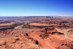 Utah landscape. Canyon landscape - Dead Horse Point State Park in Utah, United States. Famous Colorado River canyon carved in red sandstone Royalty Free Stock Photos