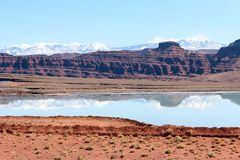 Utah landscape. Seen in Canyonlands national Royalty Free Stock Photo