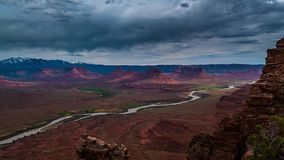 Utah Landscape Time-lapse. Western Landscape Utah Professor Valley Overlook UHD Time-lapse colorado river stock video footage