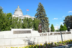 Utah Law Enforcement Memorial Stock Image