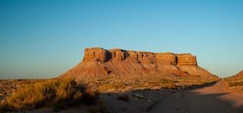 Utah-MESAs bei Sonnenuntergang Stockfoto